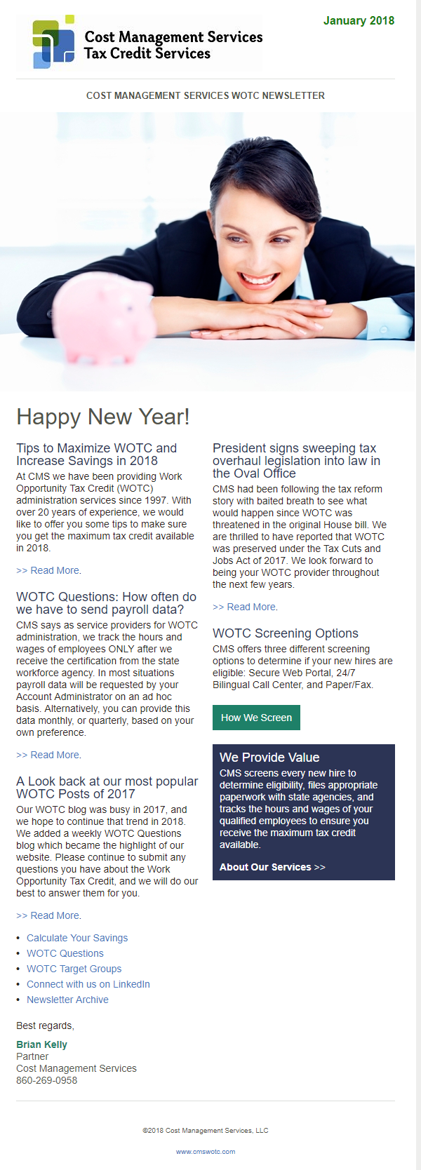 WOTC Newsletter January 2018