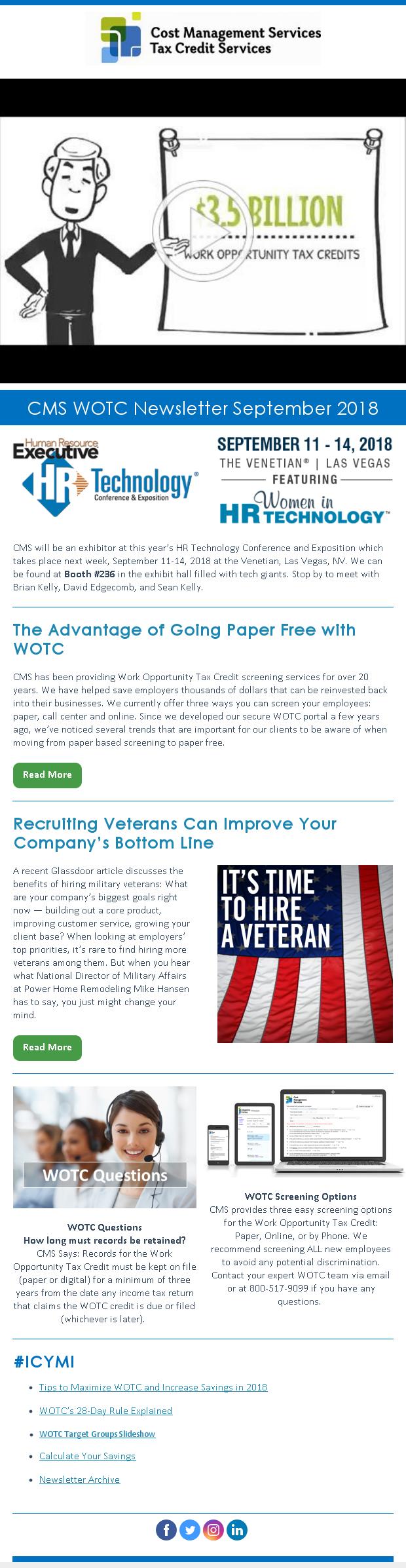 WOTC Customer Newsletter September 2018