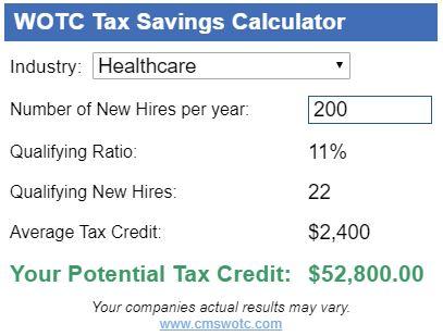 Work Opportunity Tax Credit Calculator WOTC